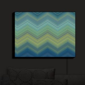 Nightlight Sconce Canvas Light | Christy Leigh - Teling Zig Zag | Abstract Stylized Colorful