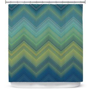 Premium Shower Curtains | Christy Leigh - Teling Zig Zag
