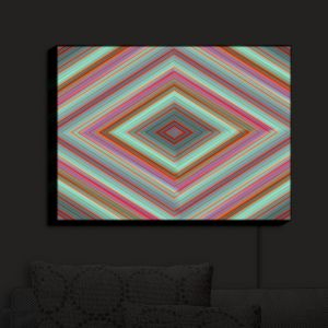 Nightlight Sconce Canvas Light | Christy Leigh - The Four Winds | Abstract Stylized Colorful