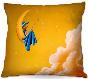 Throw Pillows Decorative Artistic | Cindy Thornton - Blue Moon