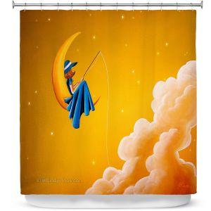 Premium Shower Curtains | Cindy Thornton - Blue Moon
