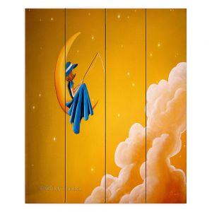 Decorative Wood Plank Wall Art | Cindy Thornton - Blue Moon
