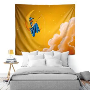 Artistic Wall Tapestry | Cindy Thornton - Blue Moon