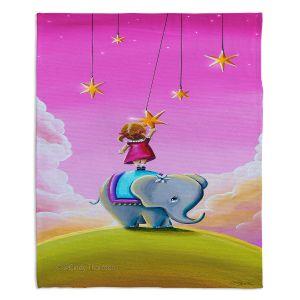 Artistic Sherpa Pile Blankets | Cindy Thornton - Elephant Stars