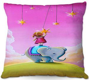 Throw Pillows Decorative Artistic   Cindy Thornton - Elephant Stars
