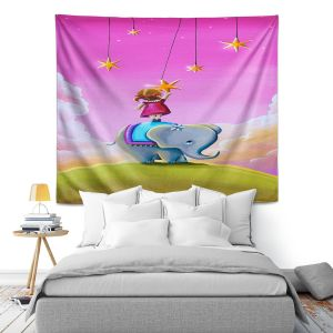 Artistic Wall Tapestry | Cindy Thornton - Elephant Stars