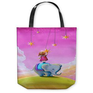 Unique Shoulder Bag Tote Bags | Cindy Thornton - Elephant Stars