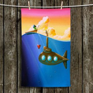 Unique Hanging Tea Towels   Cindy Thornton - Finding Nemo   Underwater Boats Submarine Ocean