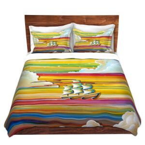Artistic Duvet Covers and Shams Bedding | Cindy Thornton - Neverland Rainbow