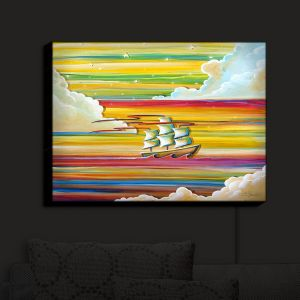 Nightlight Sconce Canvas Light   Cindy Thornton - Neverland Rainbow