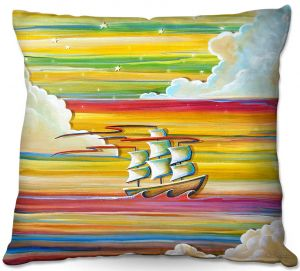 Throw Pillows Decorative Artistic | Cindy Thornton - Neverland Rainbow