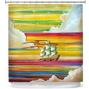 Premium Shower Curtains | Cindy Thornton - Neverland Rainbow