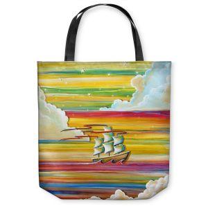 Unique Shoulder Bag Tote Bags | Cindy Thornton - Neverland Rainbow