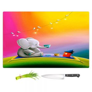 Artistic Kitchen Bar Cutting Boards   Cindy Thornton - Rainbow Elephant