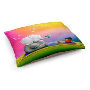 Decorative Dog Pet Beds | Cindy Thornton - Rainbow Elephant