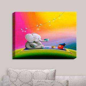 Decorative Canvas Wall Art | Cindy Thornton - Rainbow Elephant