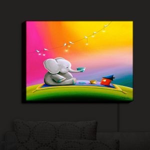 Nightlight Sconce Canvas Light | Cindy Thornton - Rainbow Elephant