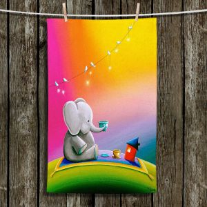 Unique Bathroom Towels | Cindy Thornton - Rainbow Elephant