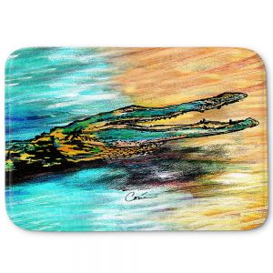 Decorative Bath Mat Large from DiaNoche Designs by Corina Bakke - Alligator