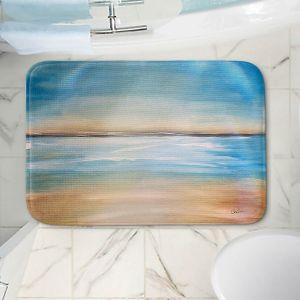 Decorative Bathroom Mats | Corina Bakke - Blue Sea | beach landscape sunrise horizon