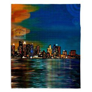 Decorative Fleece Throw Blankets | Corina Bakke - Boston Skyline