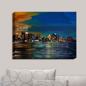 Decorative Canvas Wall Art | Corina Bakke - Boston Skyline