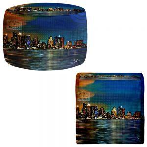 Round and Square Ottoman Foot Stools | Corina Bakke - Boston Skyline