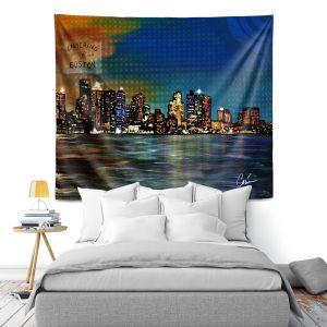 Artistic Wall Tapestry | Corina Bakke Boston Skyline