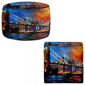 Round and Square Ottoman Foot Stools | Corina Bakke - Brooklyn Bridge