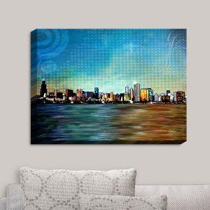 Decorative Canvas Wall Art   Corina Bakke - Chicago Skyline