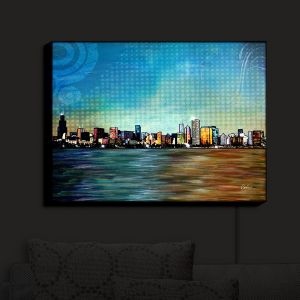 Nightlight Sconce Canvas Light   Corina Bakke - Chicago Skyline