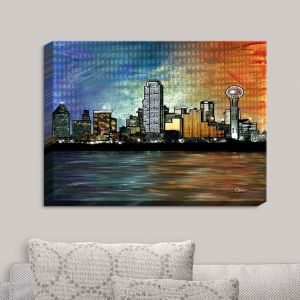 Decorative Canvas Wall Art | Corina Bakke - Dallas Skyline