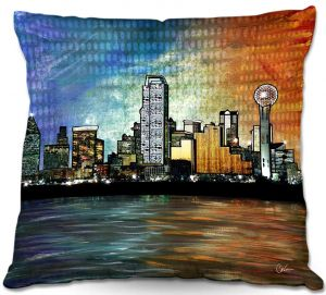 Throw Pillows Decorative Artistic | Corina Bakke's Dallas Skyline