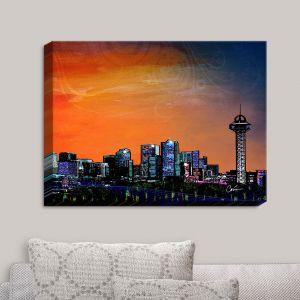 Decorative Canvas Wall Art   Corina Bakke - Denver Skyline Sports