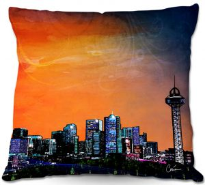 Throw Pillows Decorative Artistic | Corina Bakke's Denver Skyline Sports