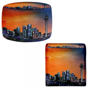 Round and Square Ottoman Foot Stools | Corina Bakke - Denver Skyline Sports