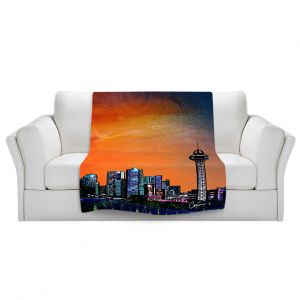 Artistic Sherpa Pile Blankets | Corina Bakke Denver Skyline Sports