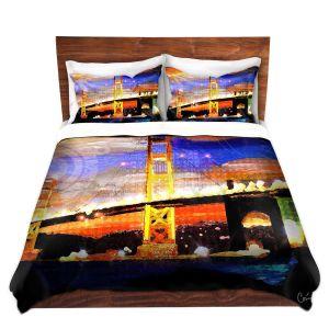 Artistic Duvet Covers and Shams Bedding | Corina Bakke - Golden Gates SF