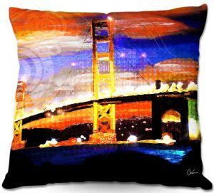 Decorative Outdoor Patio Pillow Cushion | Corina Bakke - Golden Gates SF