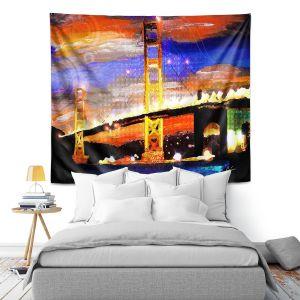 Artistic Wall Tapestry | Corina Bakke Golden Gates SF