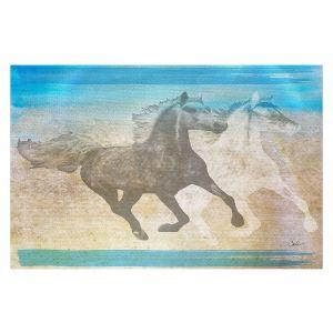 Decorative Floor Covering Mats | Corina Bakke - Horse | animal surreal pop art