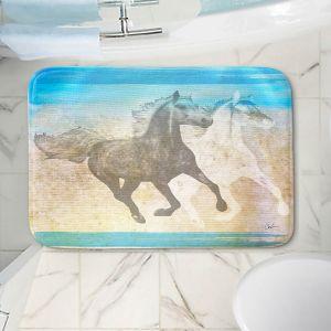 Decorative Bathroom Mats | Corina Bakke - Horse | animal surreal pop art