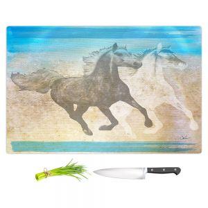 Artistic Kitchen Bar Cutting Boards   Corina Bakke - Horse   animal surreal pop art
