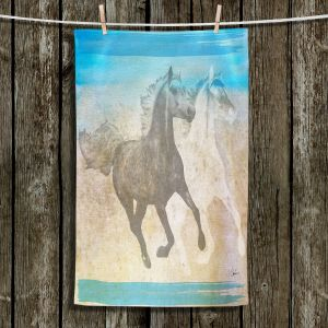 Unique Hanging Tea Towels | Corina Bakke - Horse | animal surreal pop art