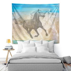 Artistic Wall Tapestry | Corina Bakke - Horse | animal surreal pop art