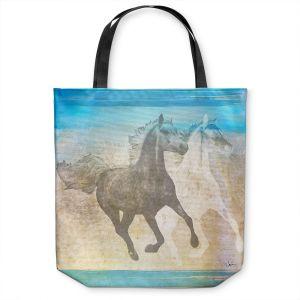 Unique Shoulder Bag Tote Bags | Corina Bakke - Horse | animal surreal pop art
