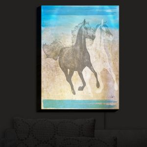 Nightlight Sconce Canvas Light | Corina Bakke - Horse | animal surreal pop art