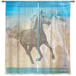 Decorative Window Treatments | Corina Bakke - Horse | animal surreal pop art