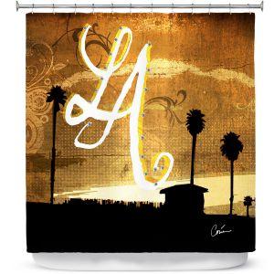 Premium Shower Curtains   Corina Bakke LA Beach