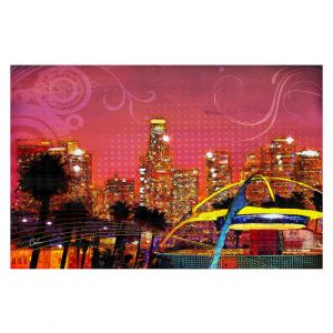 Decorative Floor Coverings | Corina Bakke - Los Angeles Skyline